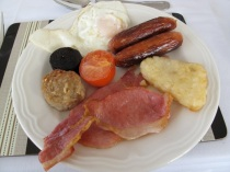 Nothing like a traditional Irish breakfast to fortify one for a day's explorations. Hilary Nangle photo