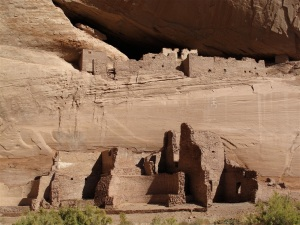 Cliff dwellings can be seen throughout the Navajo lands. ©Hilary Nangle