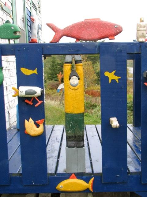 Home of Barry Colpitts, Nova Scotia folk artist. Hilary Nangle photo.