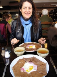 We ended our adventures with traditional Breton-style crepes at the Crêperie du Manoir Breton. Hilary Nangle photo