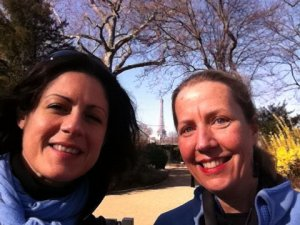 I met my cybertwin Hillary Nangle, a chef in Paris, through Facebook and then visited her.