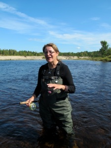 Mi'kmaq guide Betty Ward introduced me to fly fishing in the tribe's private waters. Hilary Nangle photo