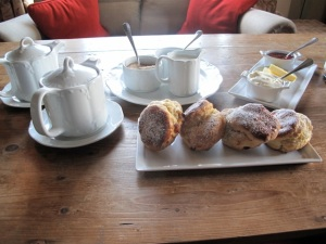 We refueled with tea and scones at Gregan's after hiking with Shane. Hilary Nangle phto