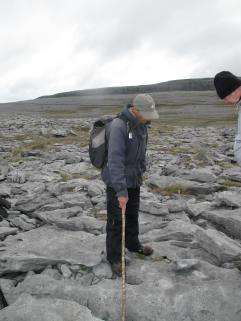 """If you turn over a rock, you'll see the fossils,"" says guide Shane Connolly about hiking in The Burren, Ireland. Hilary Nangle photo"