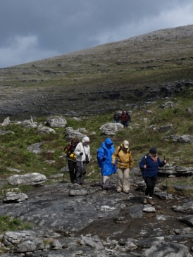 "Gaelic for ""a rocky place,"" The Burren's terraced and treeless, silvery-purple-hued hills crown a subterranean skeleton, a limestone labyrinth of caverns and winding passageways carved by water over thousands of years.Hilary Nangle photo"