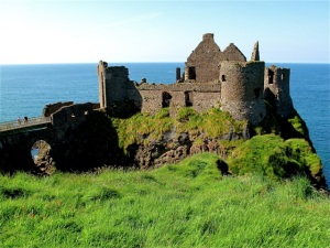 Dunluce Castle appears as if it should be featured in a romance movie. ©Hilary Nangle