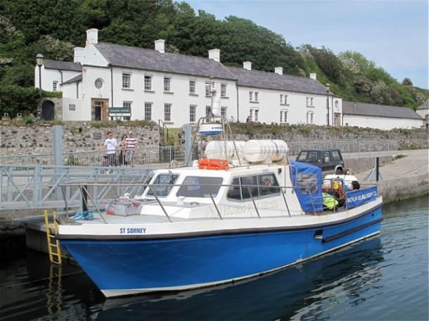 Ferry to RathlinIsland with the inn behind. ©Hilary nangle
