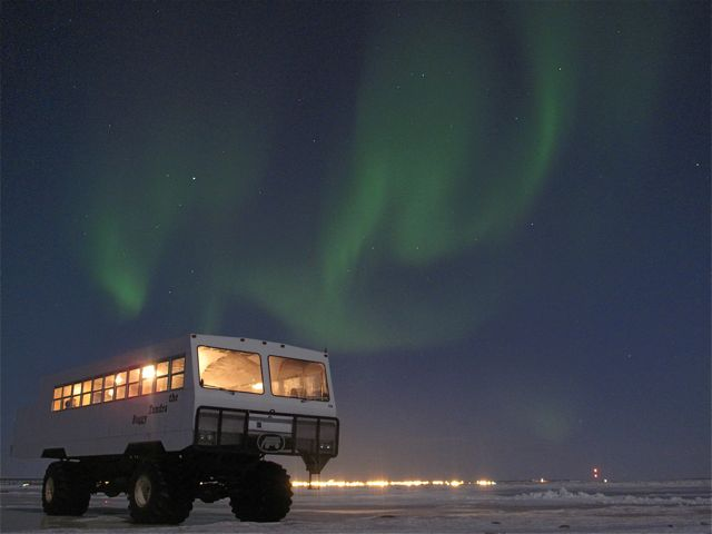 Frontiers North takes guests out into the subArctic tundra to view the northern lights. ©Hilary Nangle