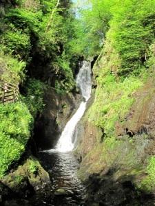 Waterfalls lace Glenariff Forest park. ©Hilary Nangle