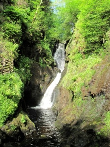 Waterfalls lace Glenariff Forest park. ©Hilary Nangle