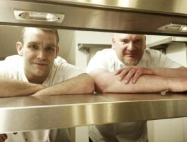 Great Fosters Executive Chef Simon Bolsover and Shane, Head Chef for the Tudor Room. Great Fosters photo